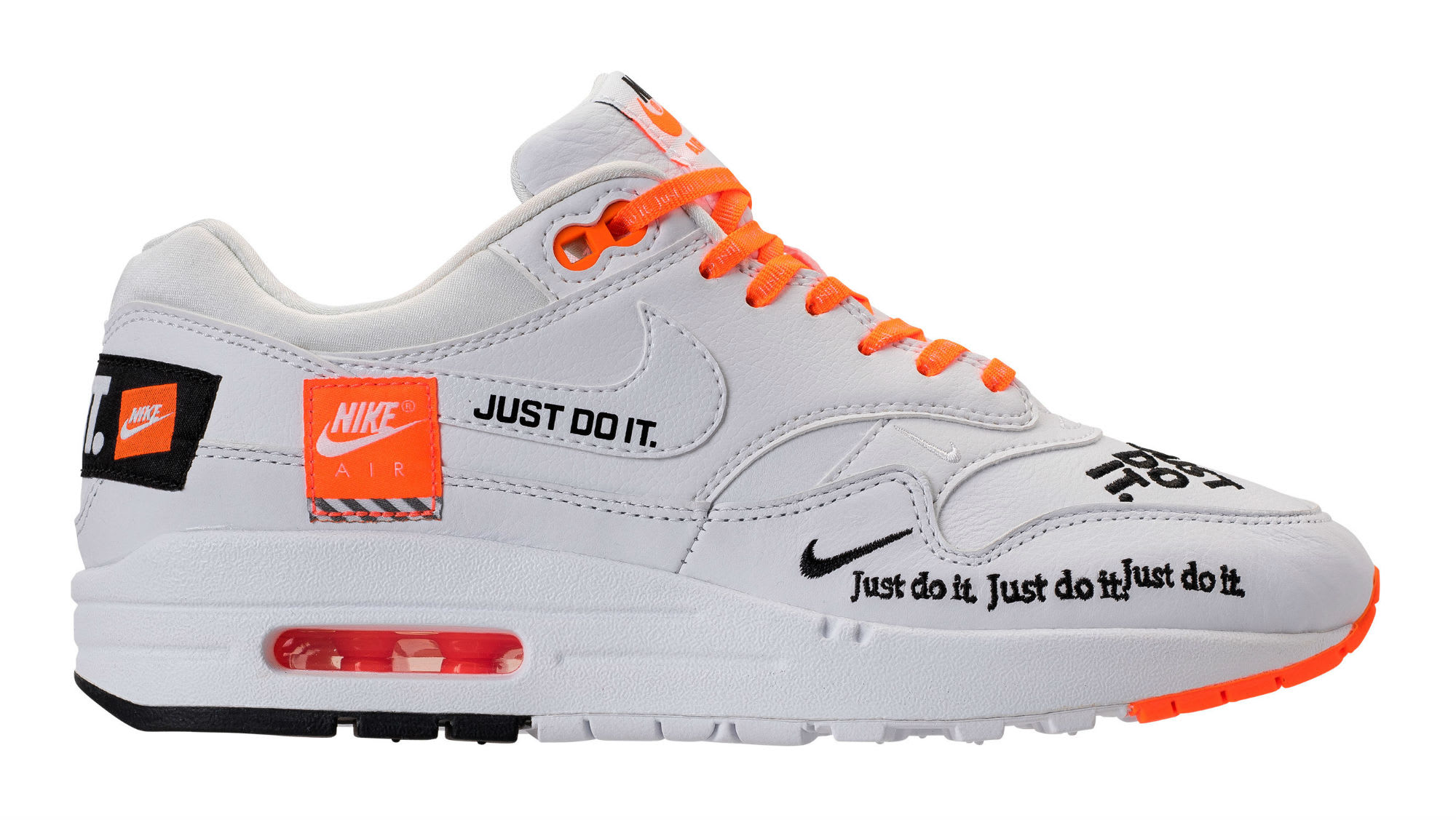 Nike Air Max 1 Just Do It White Release Date 917691-100 Profile