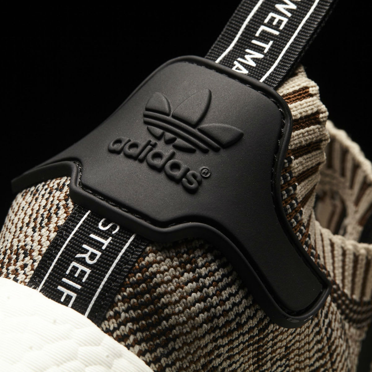 Adidas NMD R1 Primeknit Core Black Orange Release Date Heel CQ1862