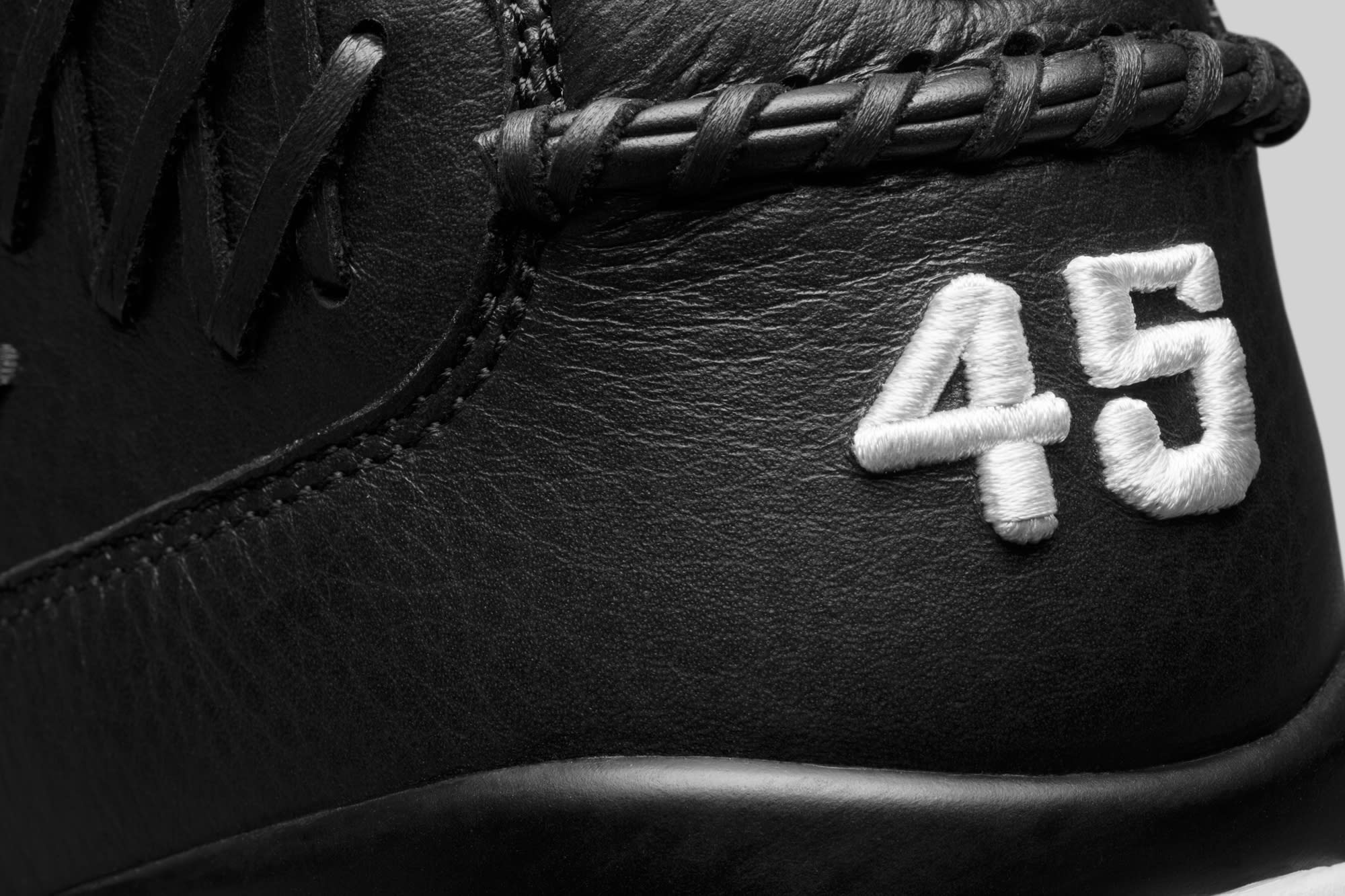 Baseball Air Jordan 9 Black Heel