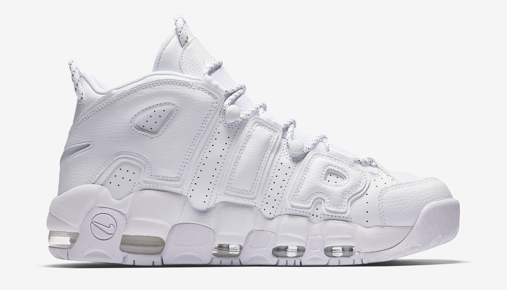 Triple White Nike Air More Uptempo 921948-100 Medial