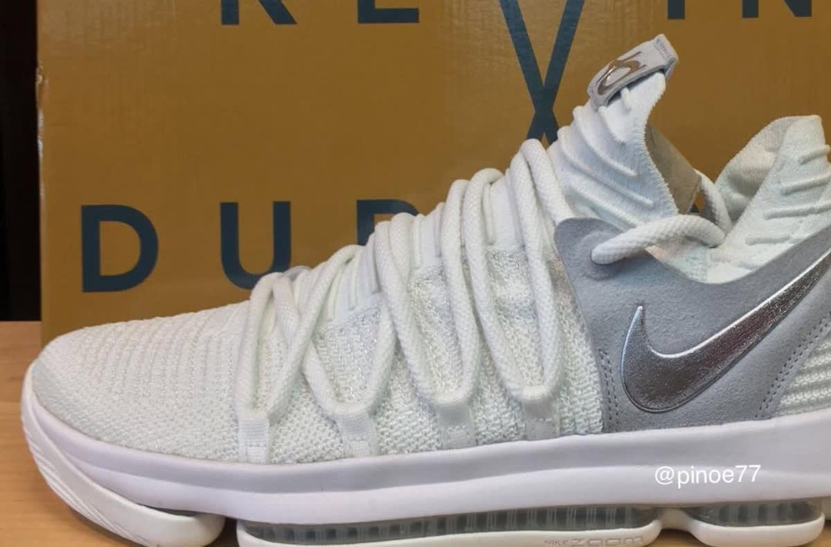 nike kd 10 white chrome release date 897815100 sole
