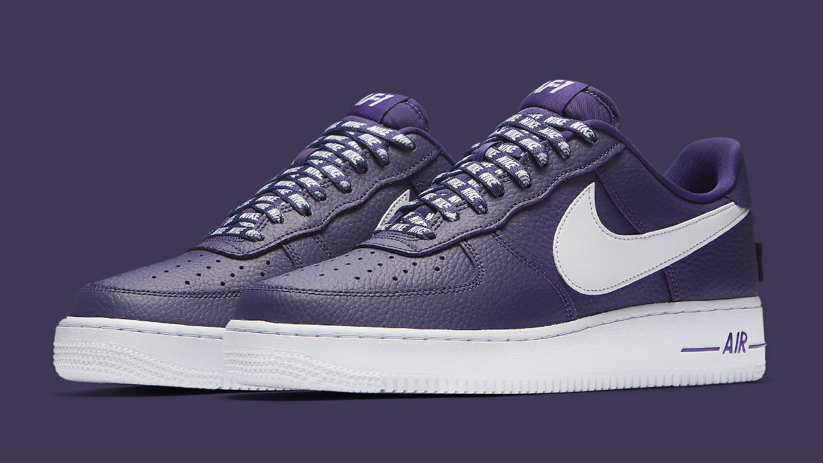 size 40 39335 441ed ... Nike Air Force 1 Low NBA Statement Game Purple Release Date 823511-501  ...