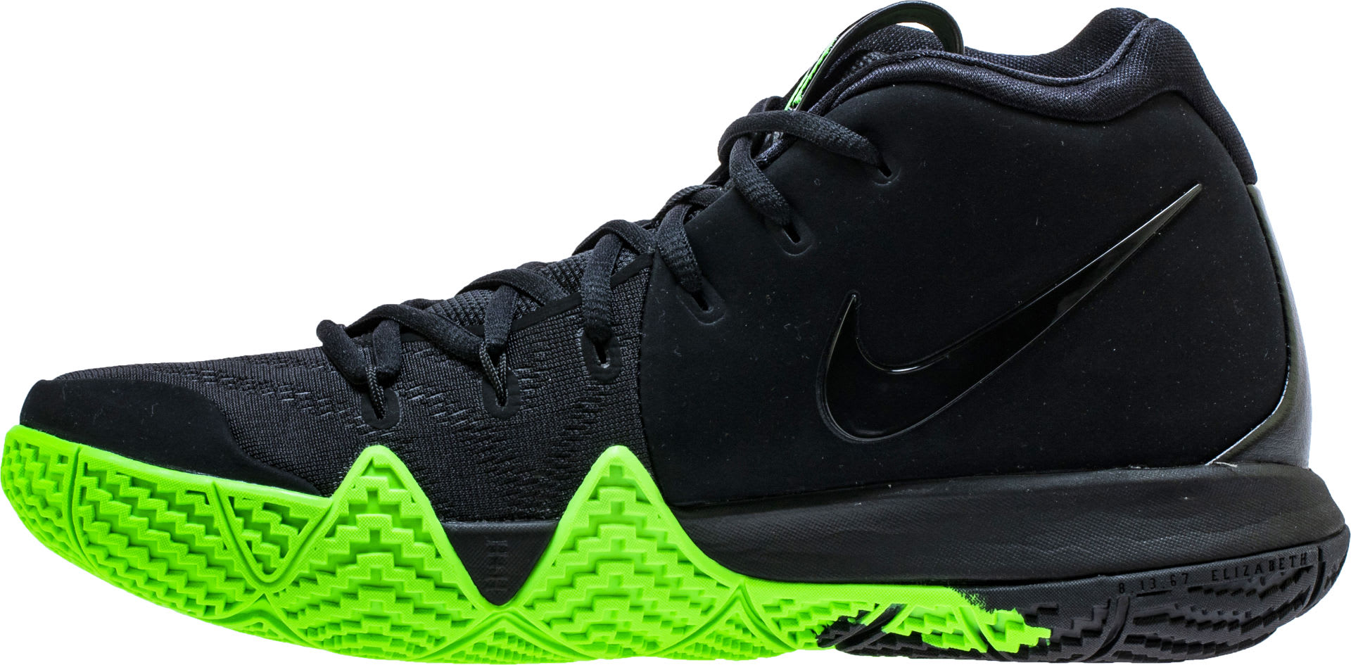 Nike Kyrie 4 Black Rage Green Halloween Release Date 943806-012 Medial