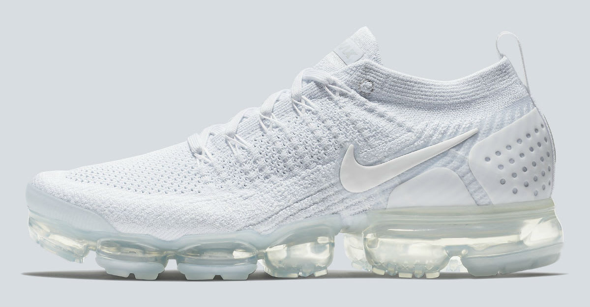 Nike Air VaporMax 2 White Pure Platinum Release Date 942842-100 Profile