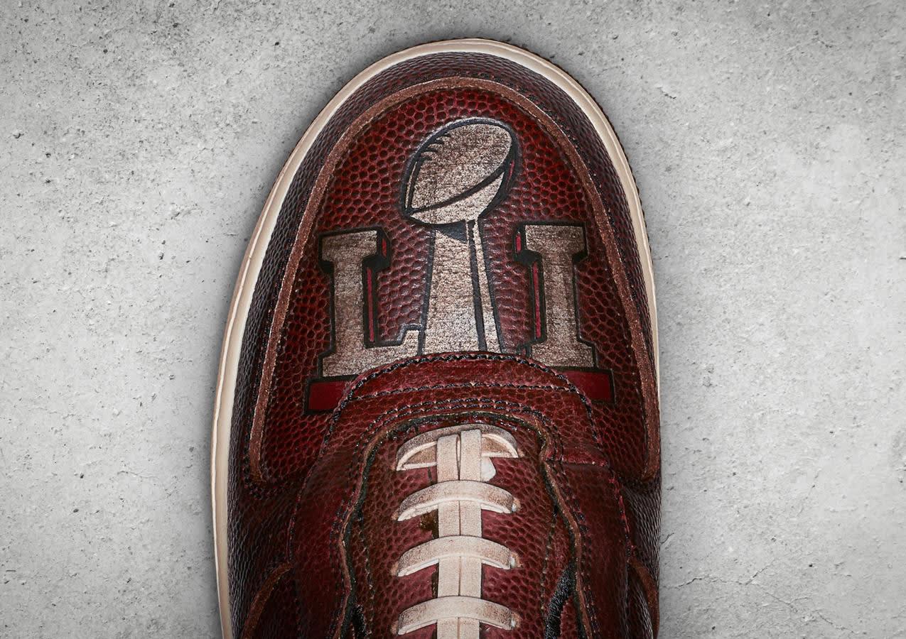 Patriots Nike Air Force 1 Super Bowl 51 Toe