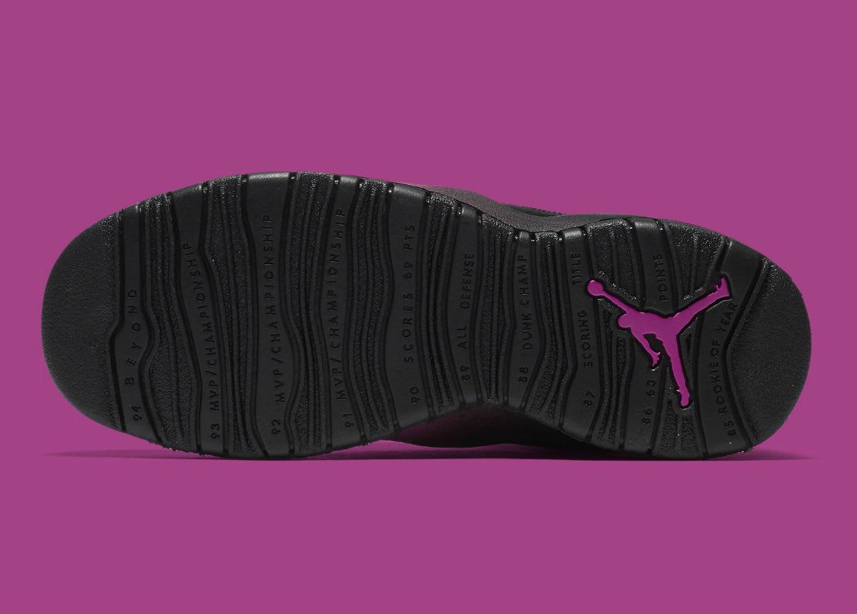 Air Jordan 10 X GS Fuchsia Blast Release Date 487211-017 Sole