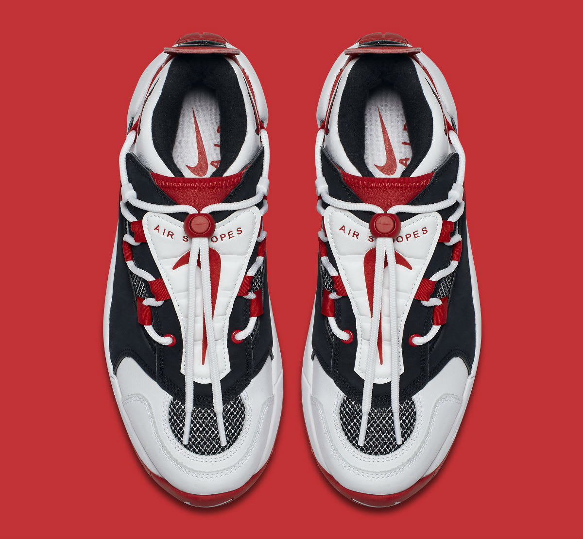 Nike Air Swoopes 2 II White Red Release Date 917592-100 Top