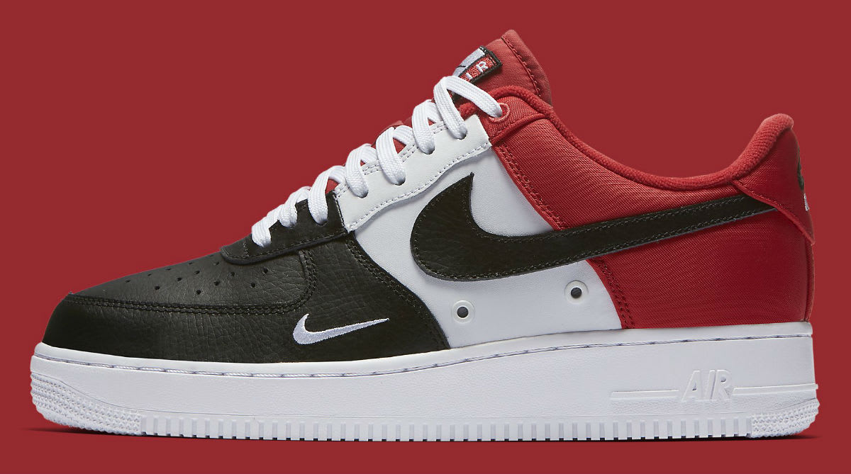 Nike Air Force 1 Low Mini Swoosh Chicago Black Toe Release Date Profile 823511-603