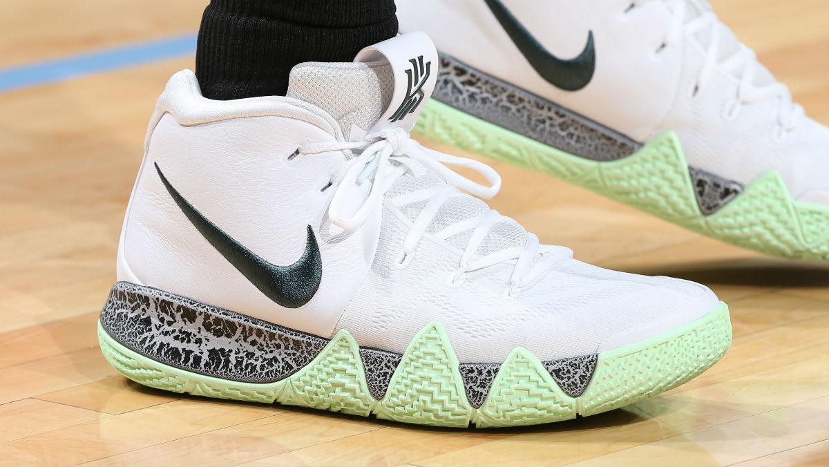 Kyrie Irving Nike Kyrie 4 White Grey Green PE