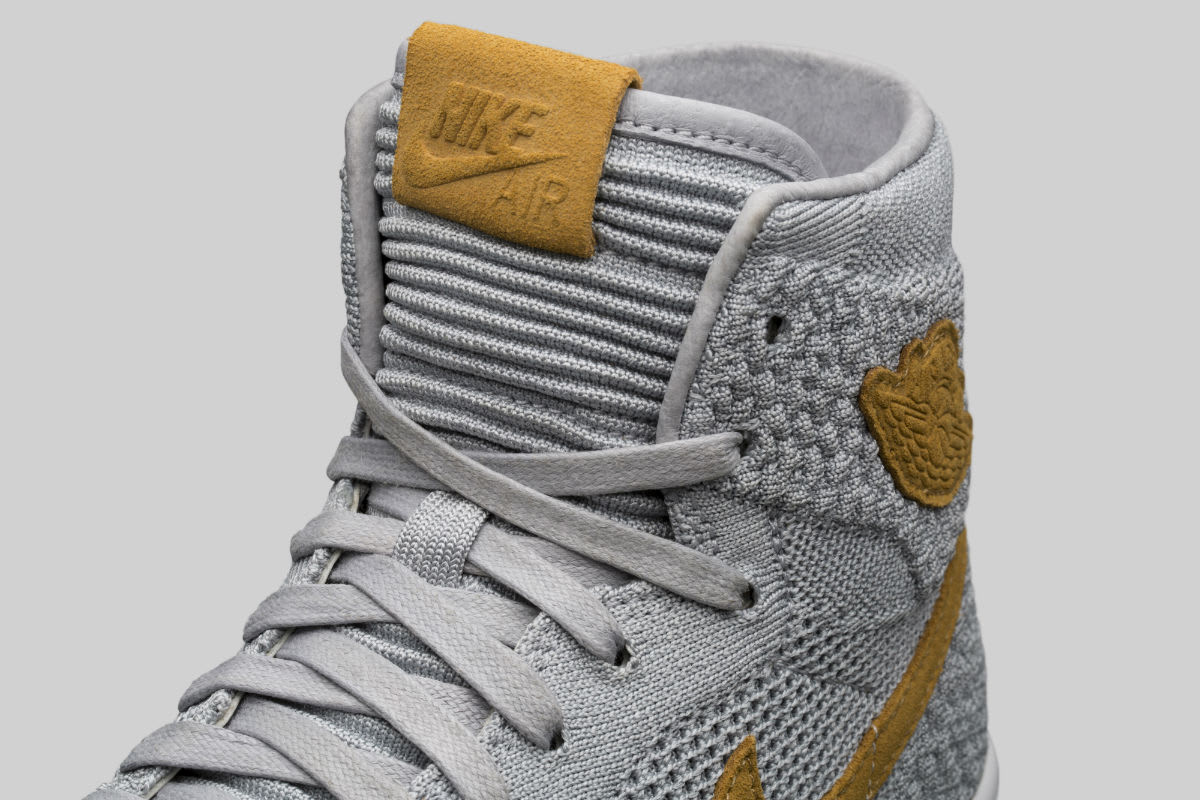 Air Jordan 1 Flyknit Wolf Grey Release Date Tongue 919704-025