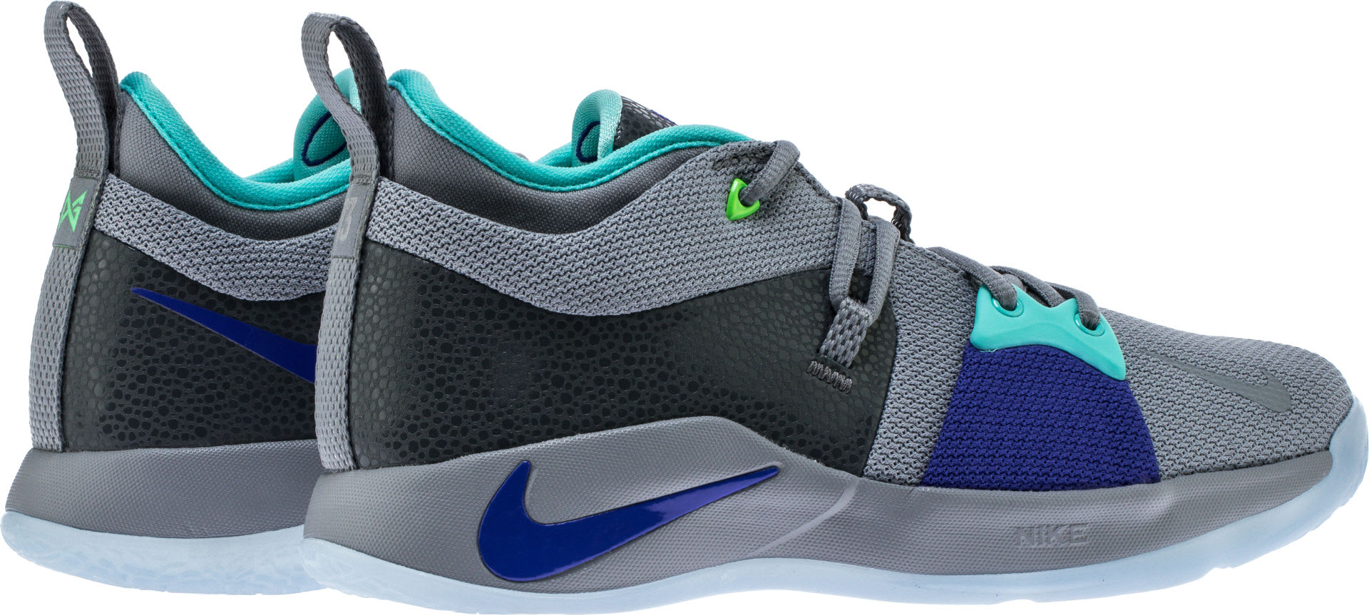 Nike PG2 Pure Platinum Neo Turquoise Wolf Grey Aurora Green Release Date AJ2039-002 Back