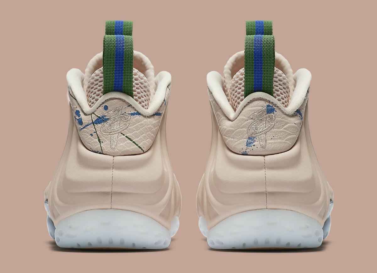 Nike Women's Air Foamposite One Particle Beige Release Date AA3963-200 Heel