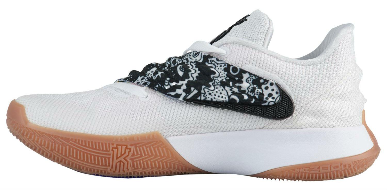 Nike Kyrie 4 Low White Black AO8979-100 Medial