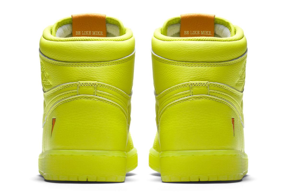 Air Jordan 1 Gatorade Cyber Yellow Lime Release Date AJ5997-345 Heel