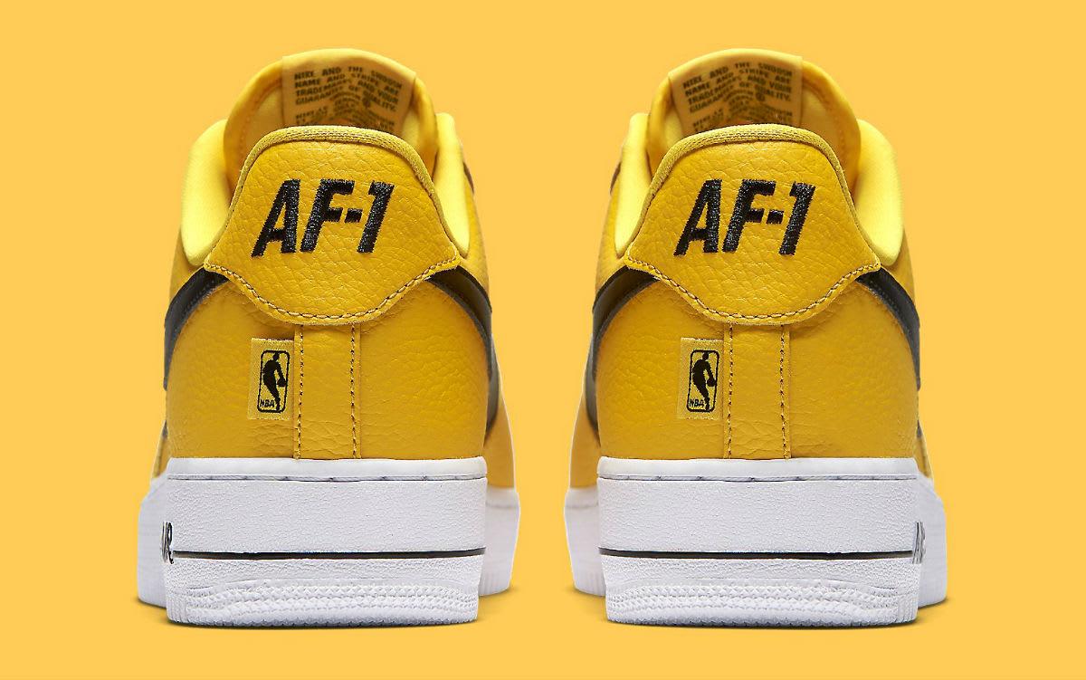 Nike Air Force 1 Low NBA Yellow Release Date Heel 823511-701