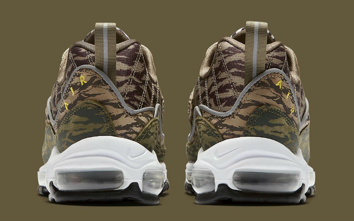 Nike Air Max 98 AOP Camo Khaki Release Date AQ4130-200 Heel