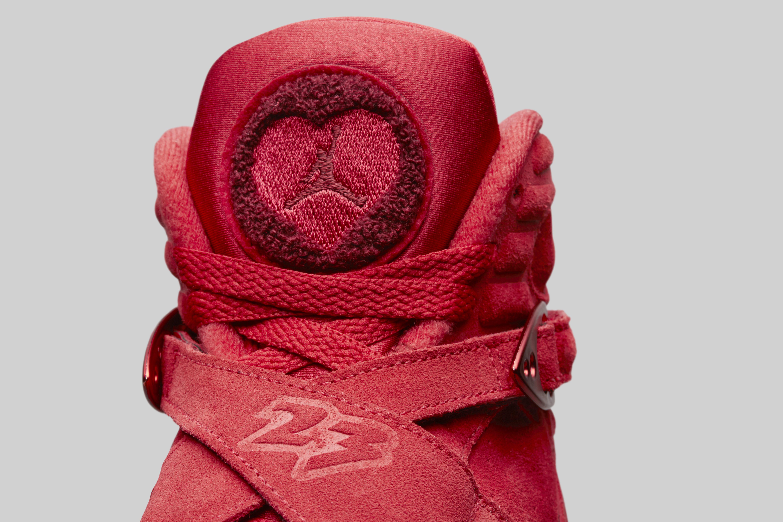 WMNS Air Jordan 8 Valentines Day Gym RedEmber Glow