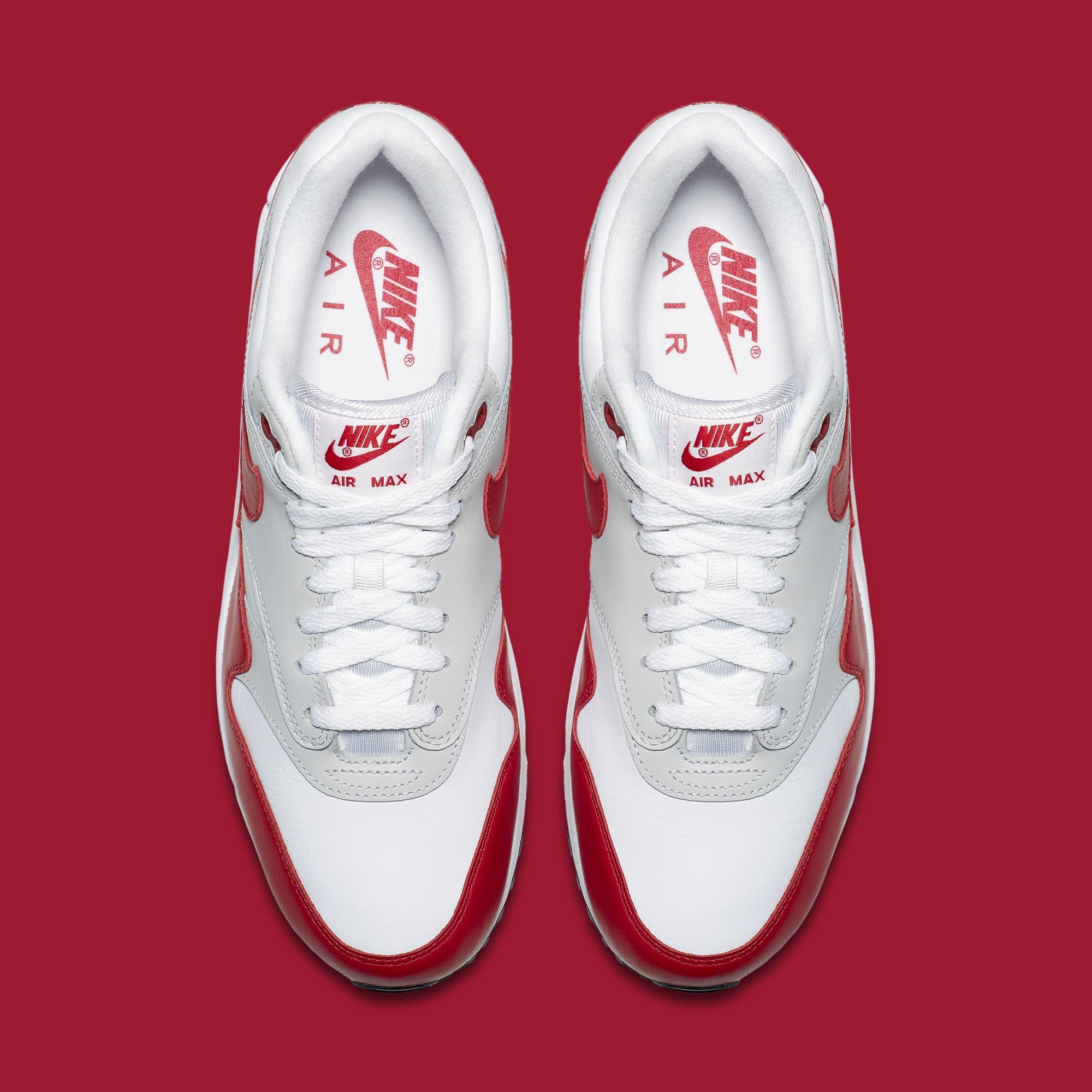 Nike Air Max 90/1 'White/Red' AJ7695-100 (Top)