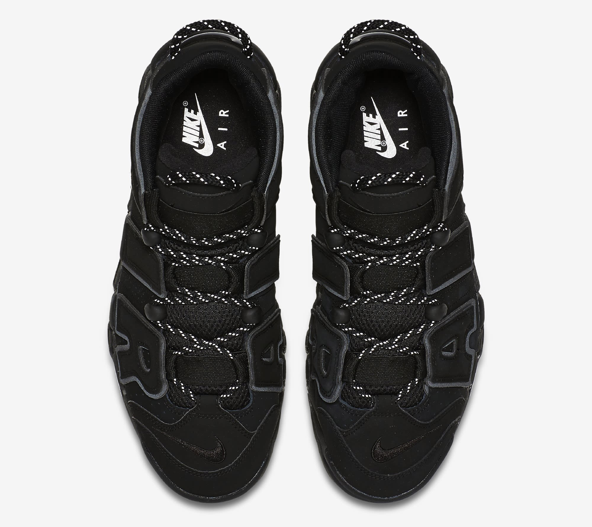 Nike Air More Uptempo Black Reflective 414962-004 Top