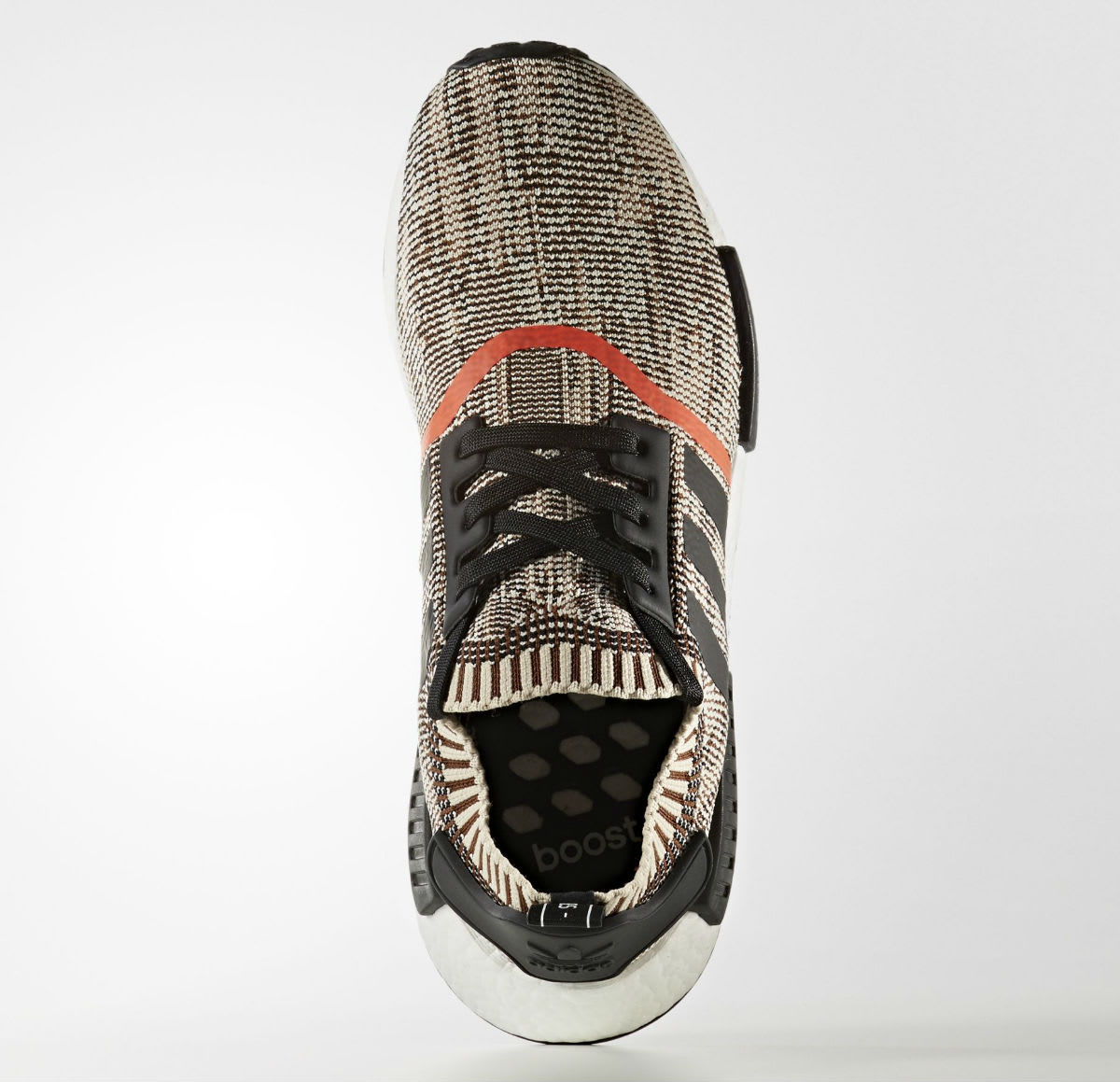 Adidas NMD R1 Primeknit Core Black Orange Release Date Top CQ1862