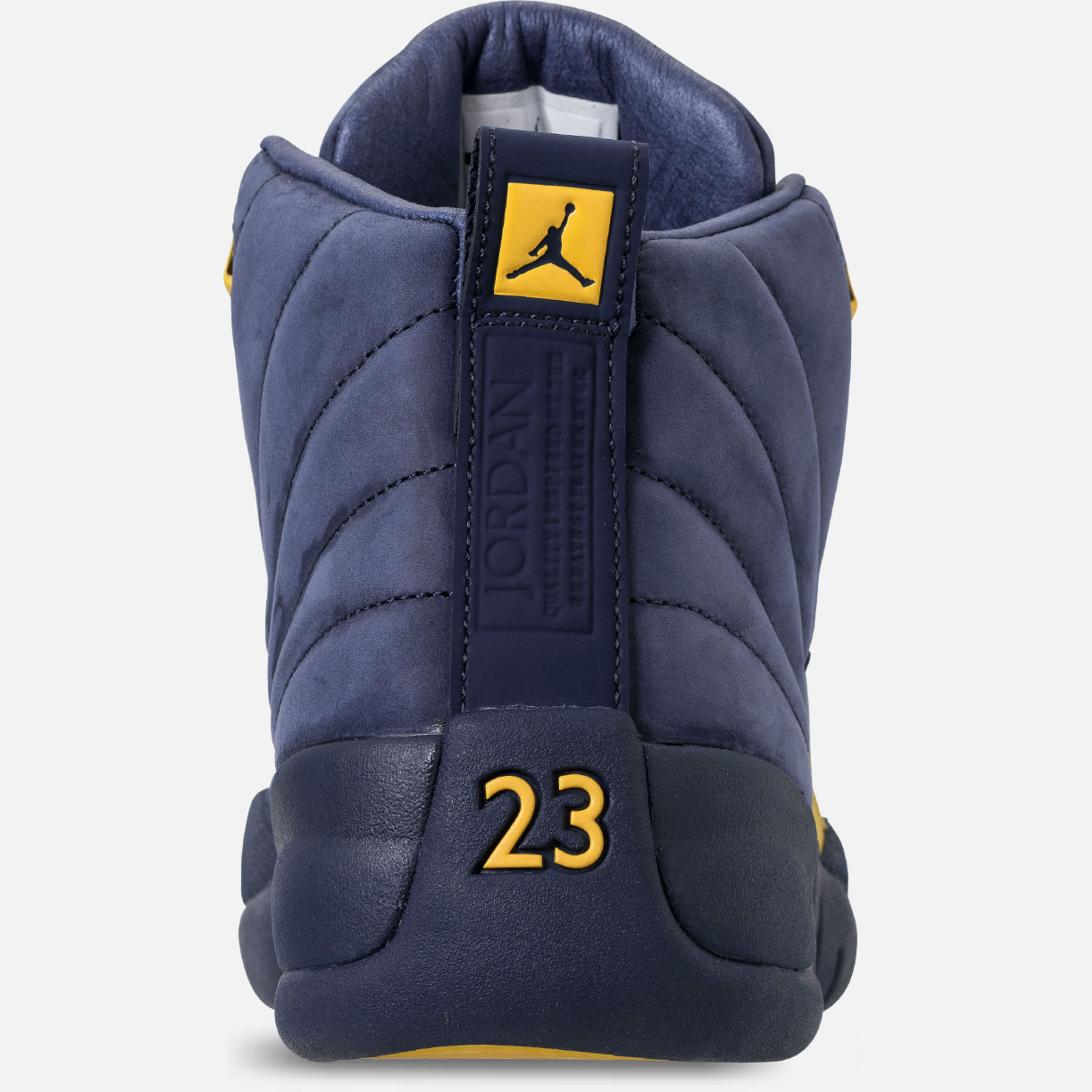 Air Jordan 12 XII Michigan Release Date BQ3180-407 Heel