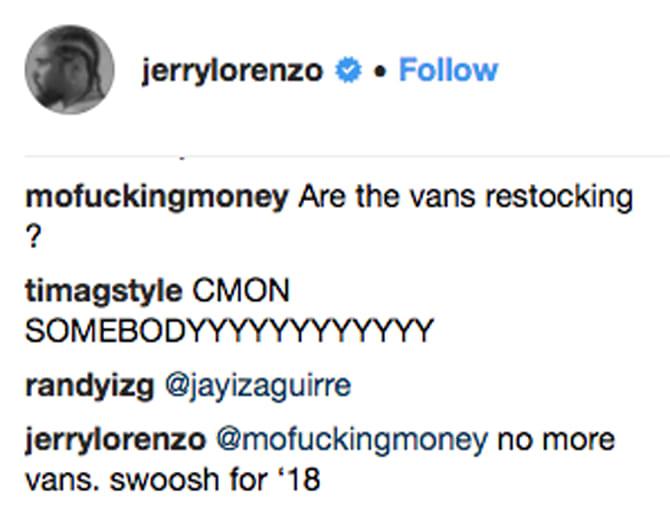 Jerry Lorenzo Nike