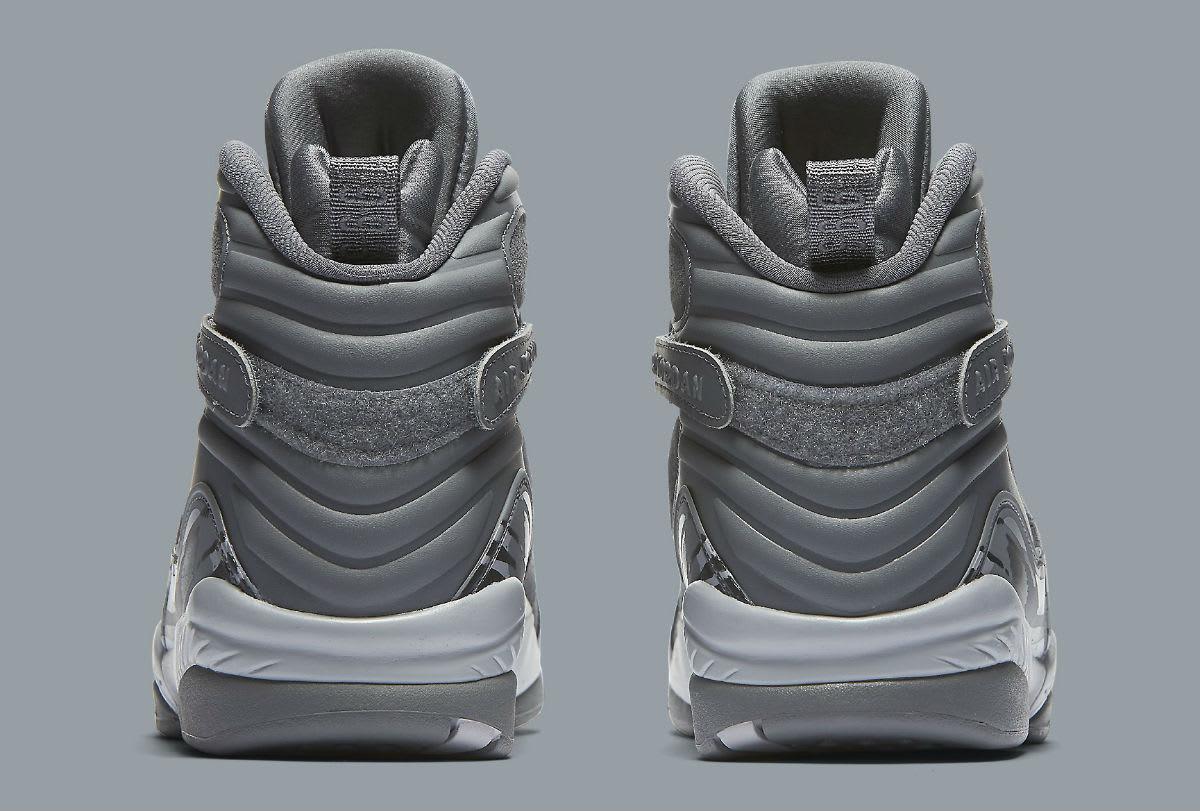 Air Jordan 8 VIII Cool Grey Release Date Heel 305381-014