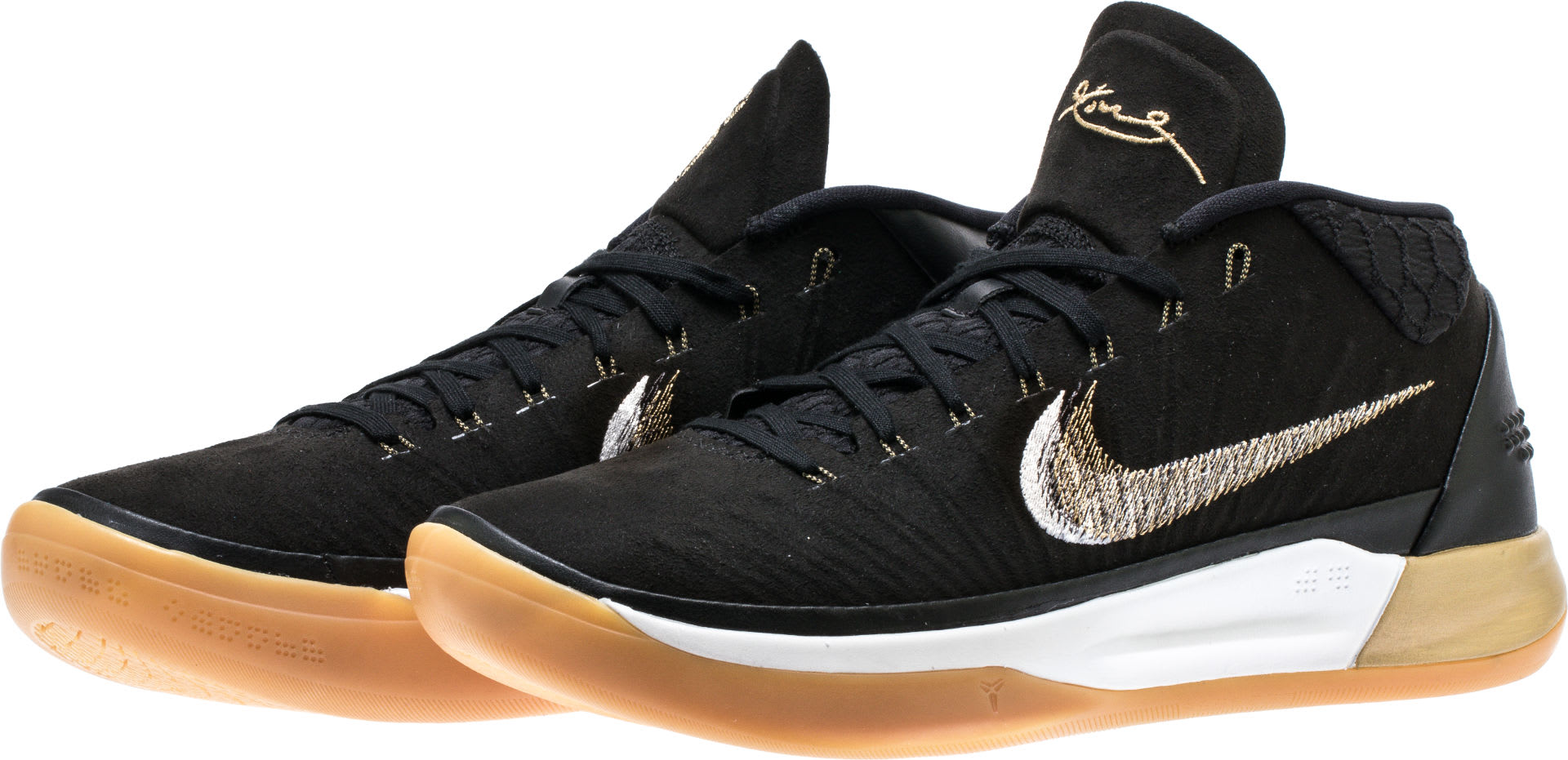 Nike Kobe A.D. Mid Black/Gold Release Date 922482-009 Pair