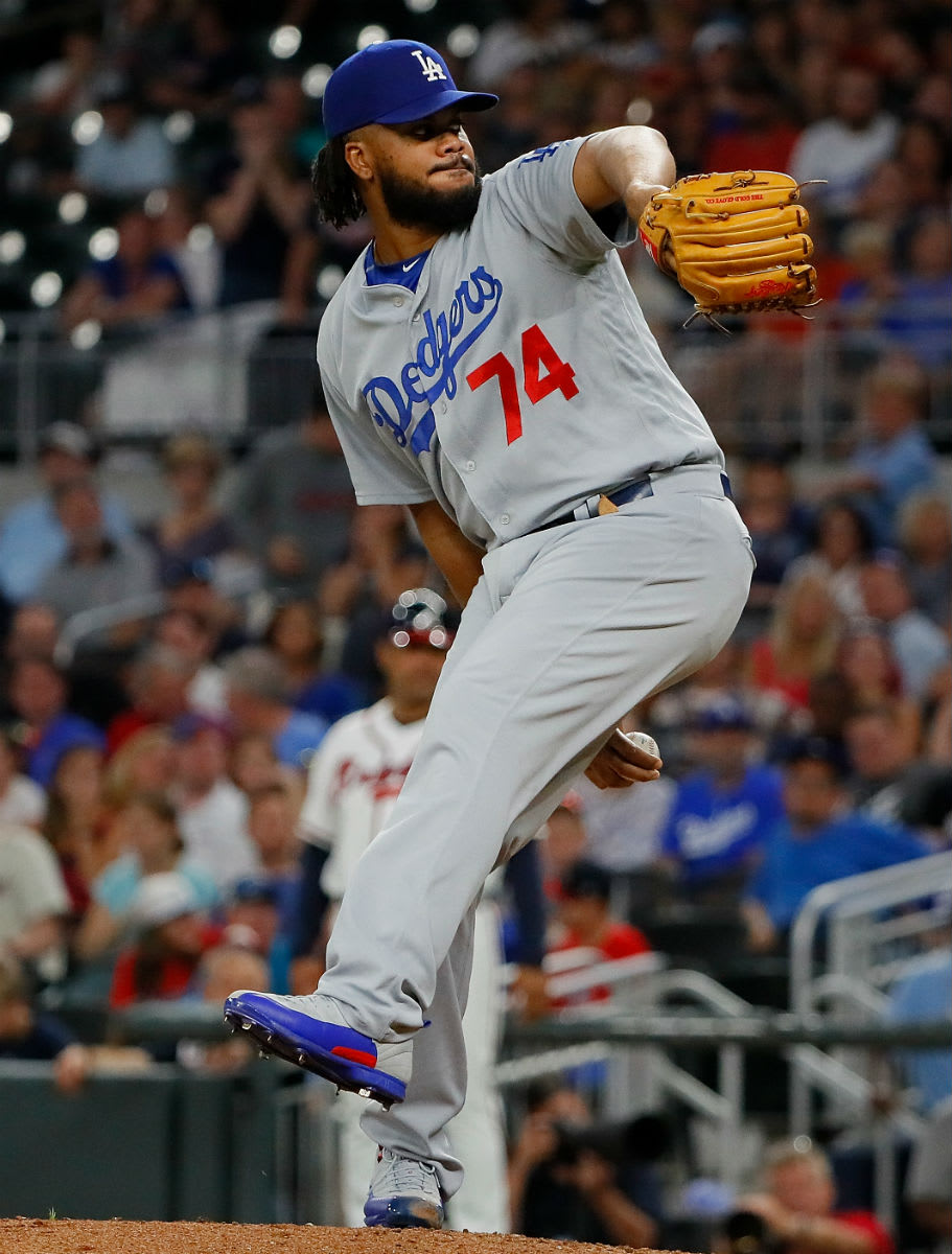 Kenley Jansen Air Jordan 12 Grey/Blue Dodgers PE Cleats