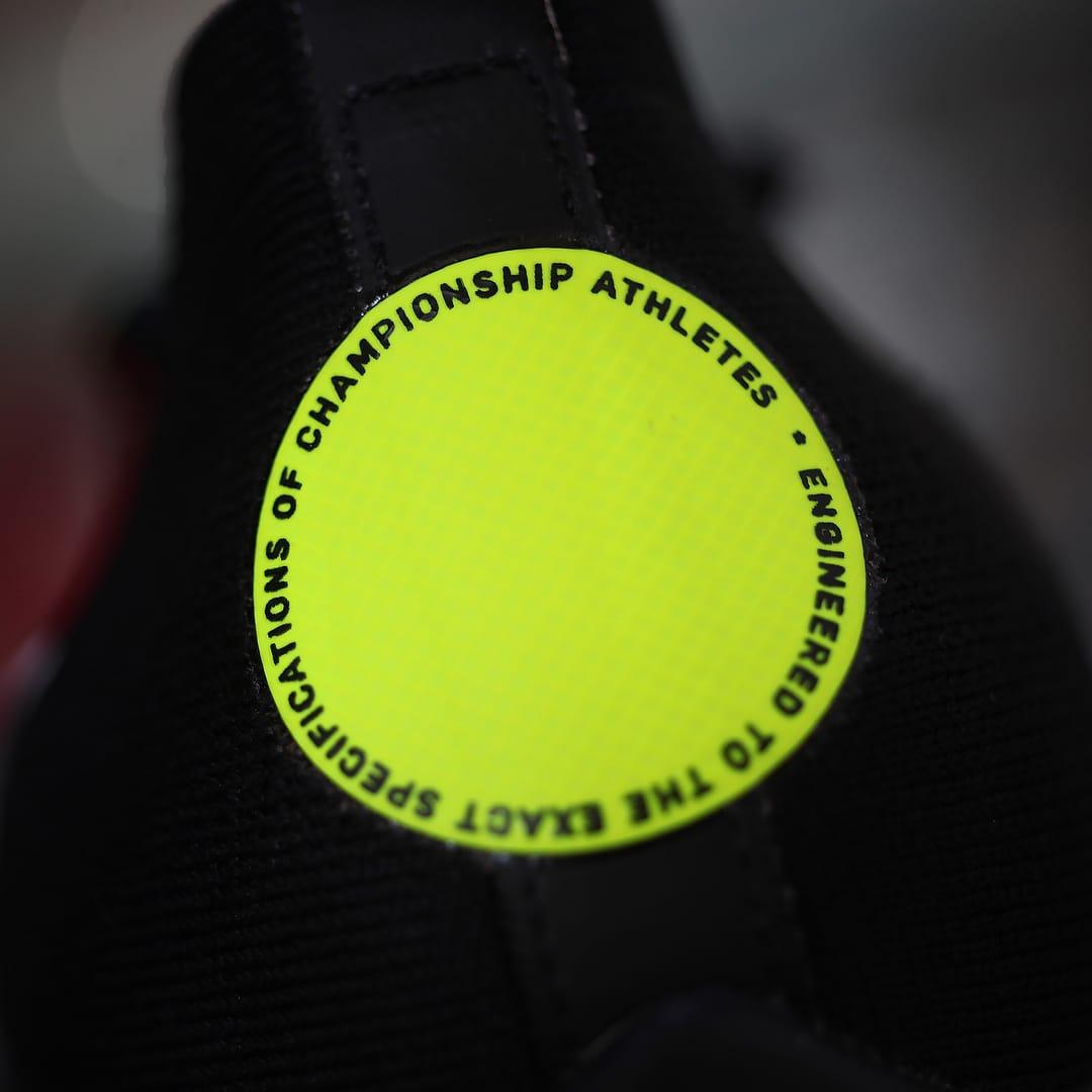 Off-White x Nike Zoom Fly Mercurial Flyknit Black Release Date AO2115-001 Heel Logo