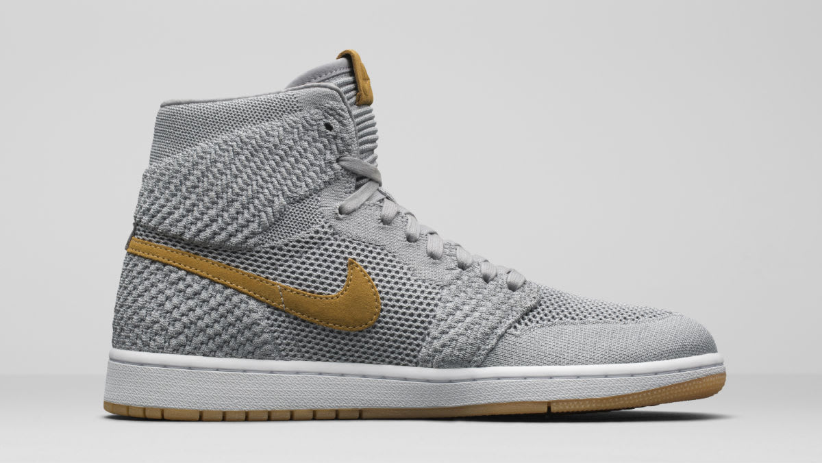 Air Jordan 1 Flyknit Wolf Grey Release Date Left Medial 919704-025