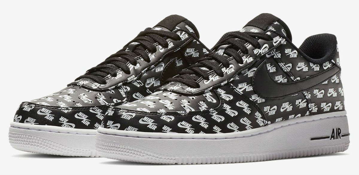 Nike Air Force 1 Low Logos Pack Black Release Date AH8462-001