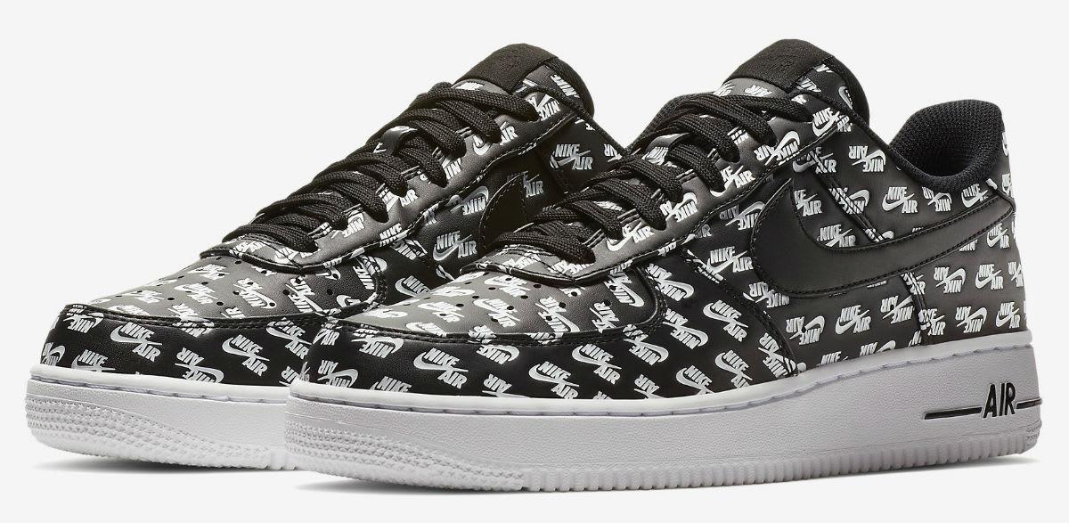 Nike Air Force 1 Low Logos Pack Black Release Date AH8462-001
