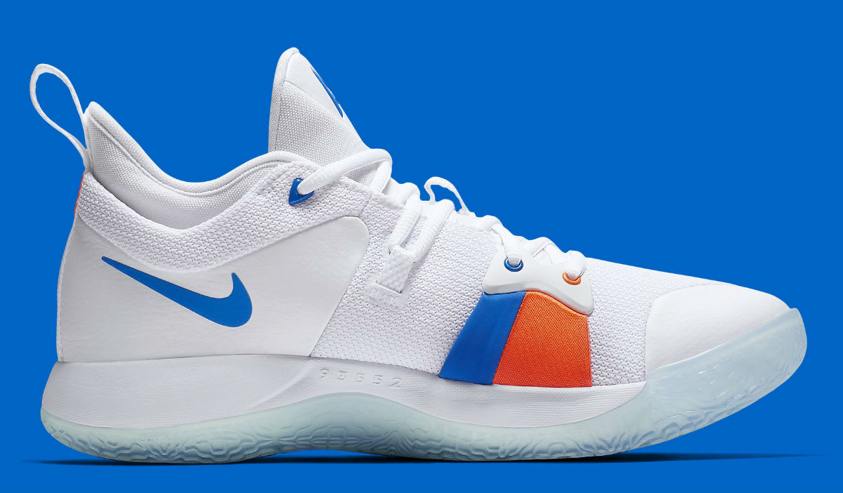 Nike PG2 OKC Home Release Date AO2984-100 Medial
