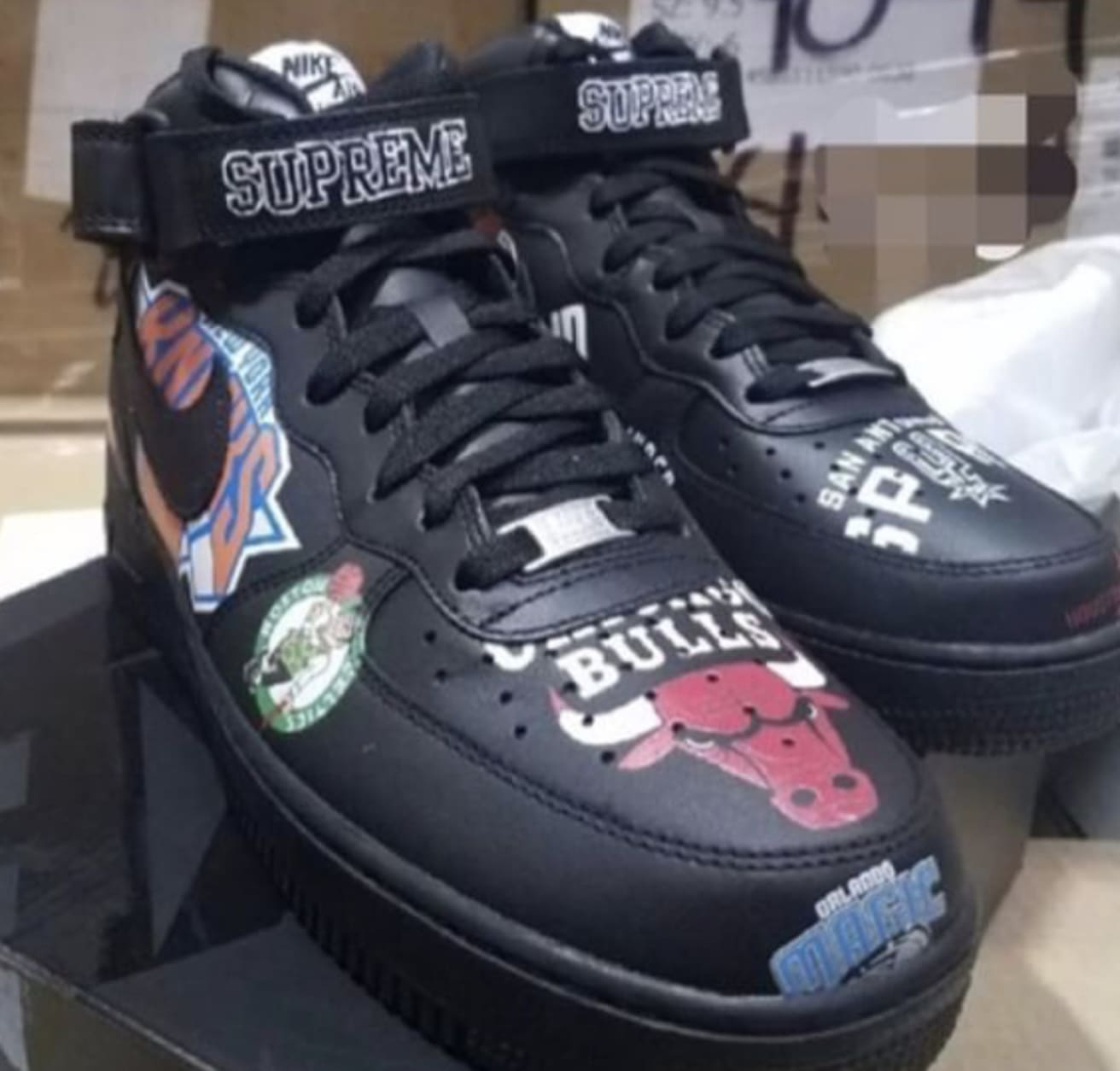 super popular fb1ee 60eda ... site full of sneakers half off Supreme x Nike Air Force 1 Mid Black  AQ8017- ...