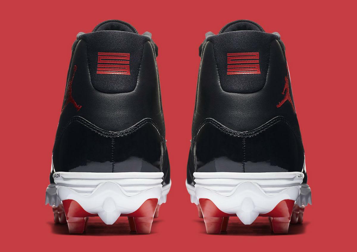 Air Jordan 11 XI Cleats Bred Release Date AO1561-010 Heel