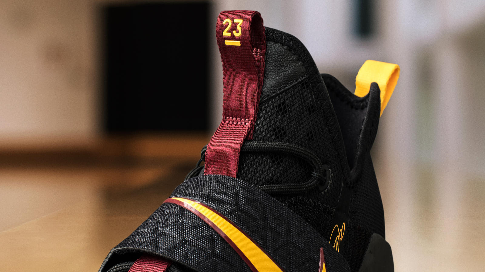 low priced e5819 40993 ... get nike lebron 14 black yellow wine pe tongue 75db5 8c356