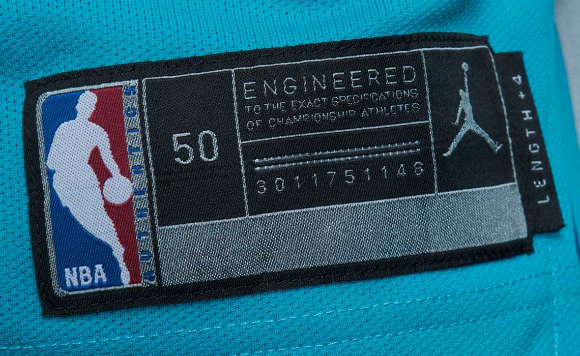 Jordan Hornets Jersey Away Icon Tag