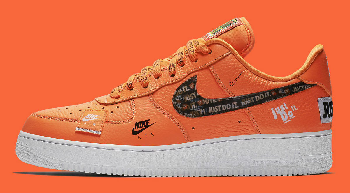 Nike Air Force 1 Low Just Do It Orange Release Date AR7719-800 Profile