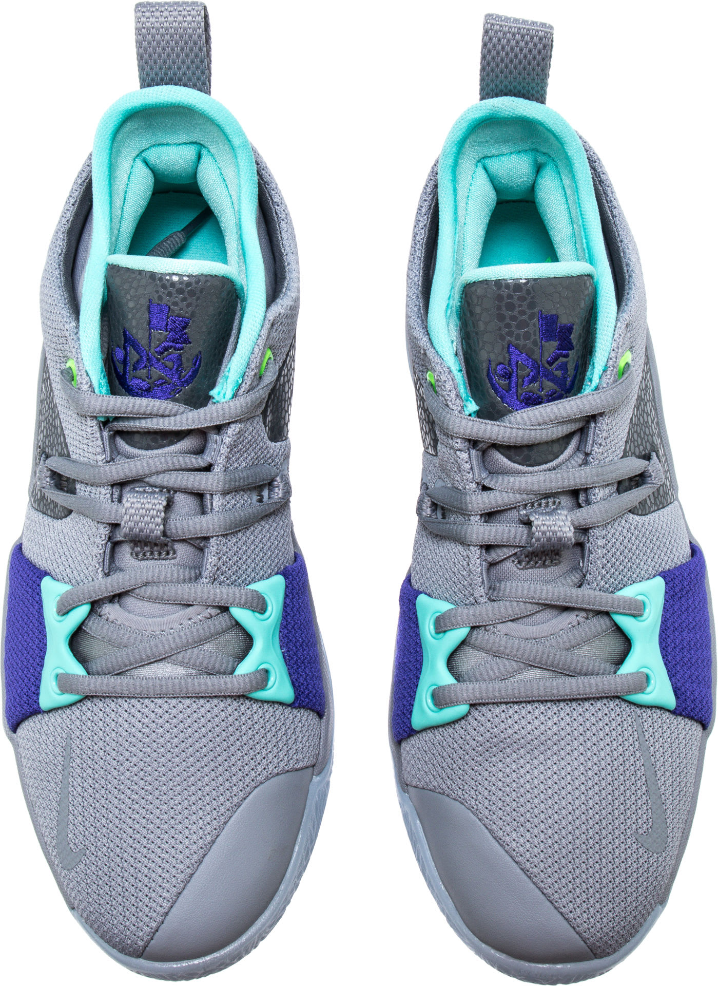 Nike PG2 Pure Platinum Neo Turquoise Wolf Grey Aurora Green Release Date AJ2039-002 Top