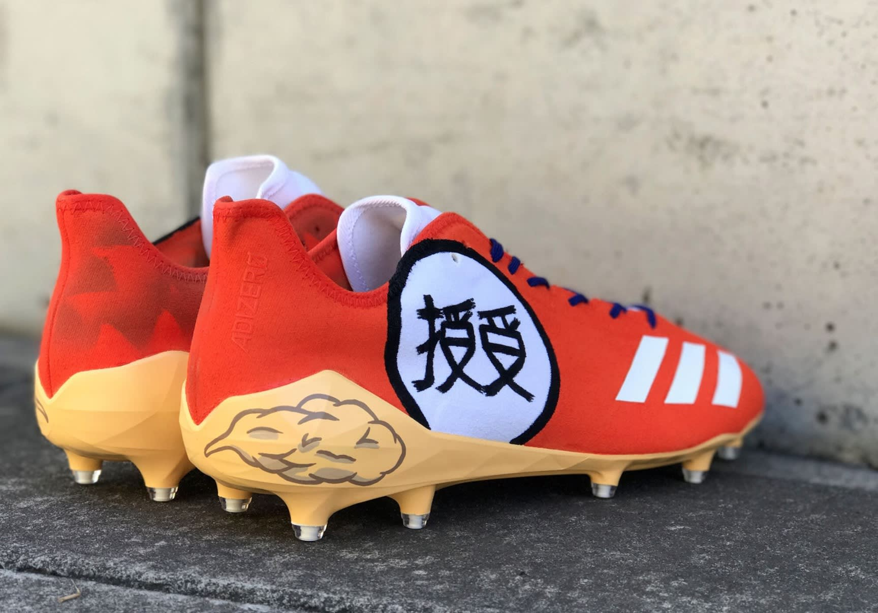 JuJu Smith-Schuster Dragon Ball Z Goku Cleats (2)