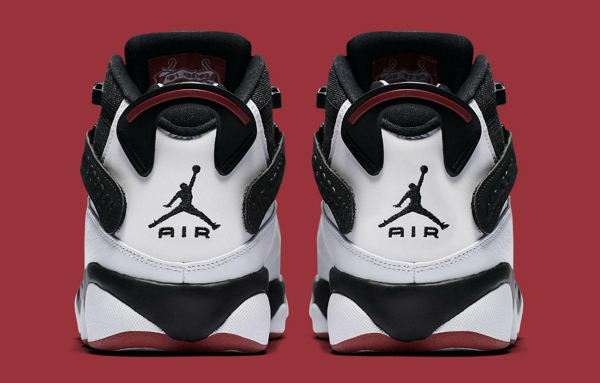 Jordan 6 Rings 2017 White Black Red Release Date Heel 322992-012