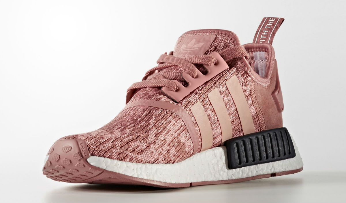 adidas NMD R1 Primeknit pink and black shoes AW LAB