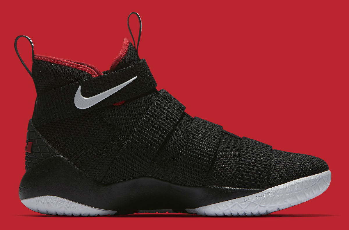 uk availability 357e5 35d4a where to buy nike lebron soldier 11 bred release date medial 897644 002  2d2fd c05d2