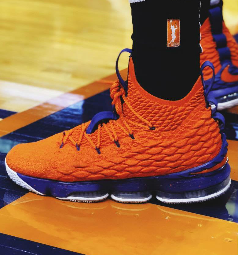 Marie Gulich Nike LeBron 15 Mercury PE On-Foot