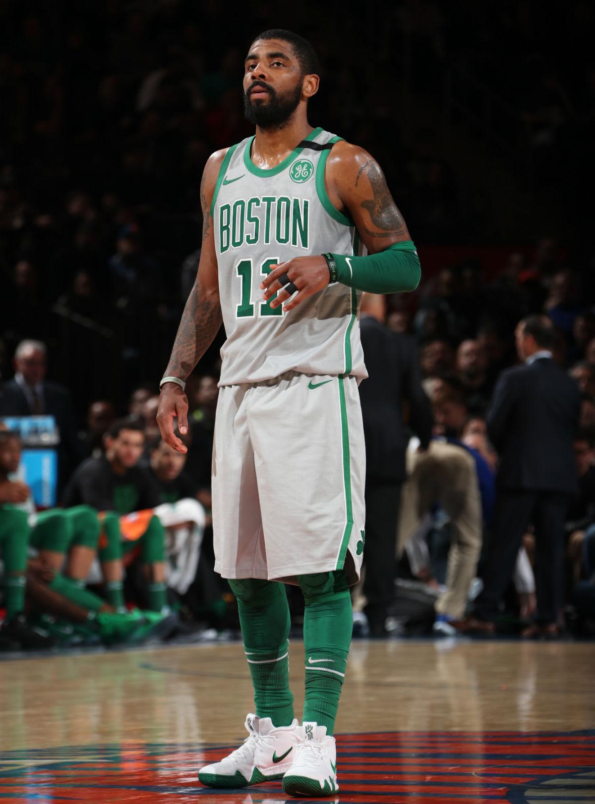 Kyrie Irving Nike Kyrie 4 White/Green Celtics PE