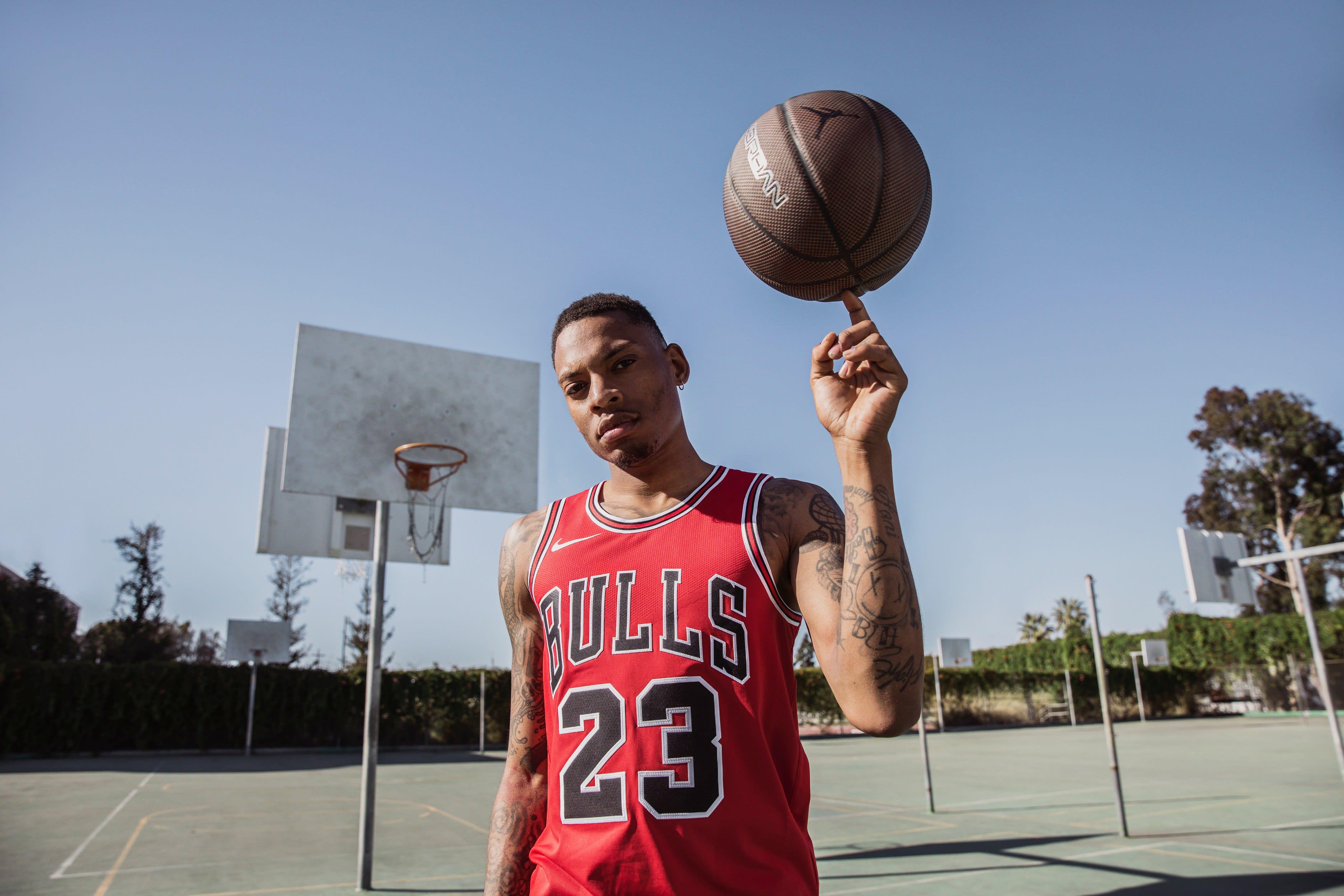 Michael Jordan Chicago Bulls Last Shot Jersey (Front)
