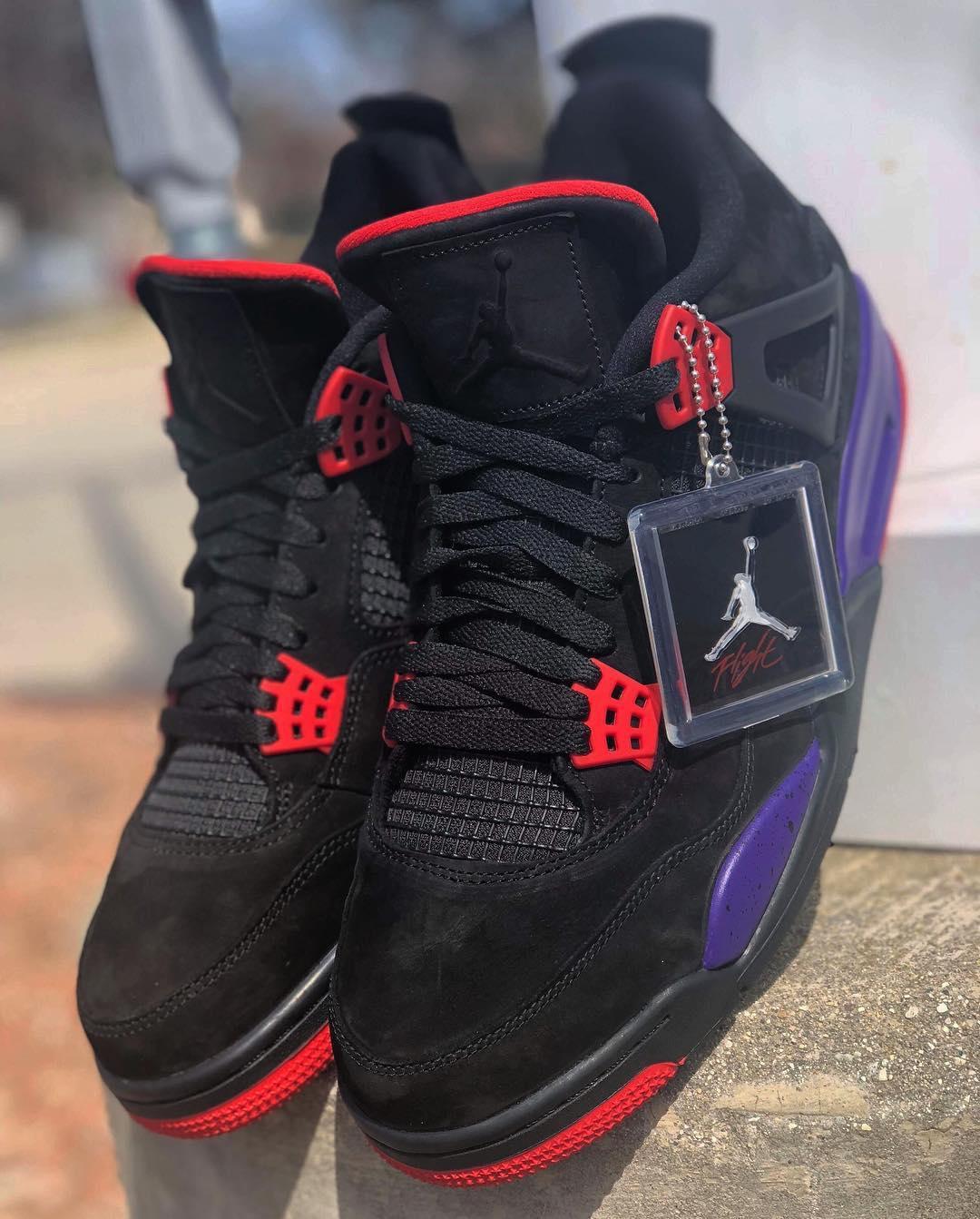 Air Jordan 4 NRG 'Black/University Red/Court Purple' AQ3816-056 (Pair)