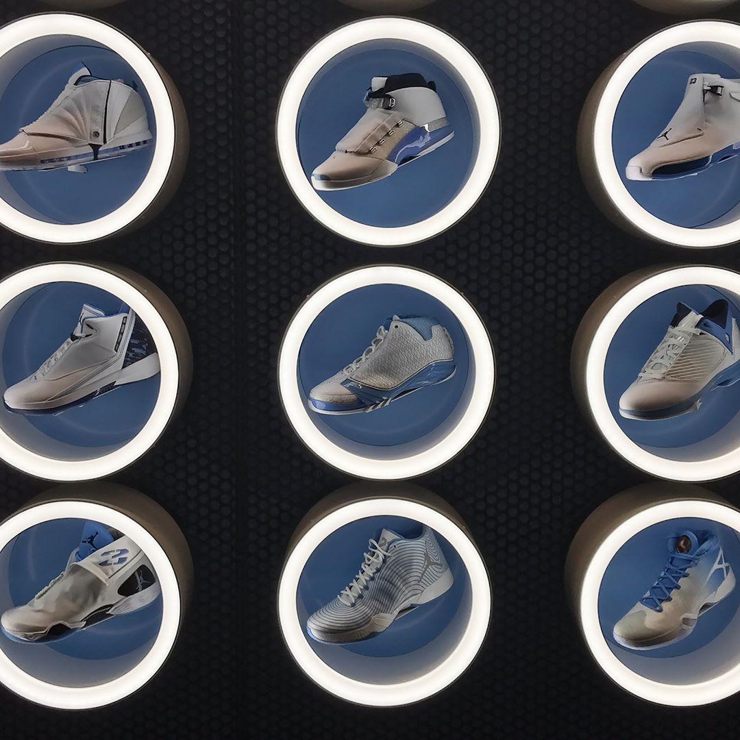 UNC Air Jordan Wall (4)