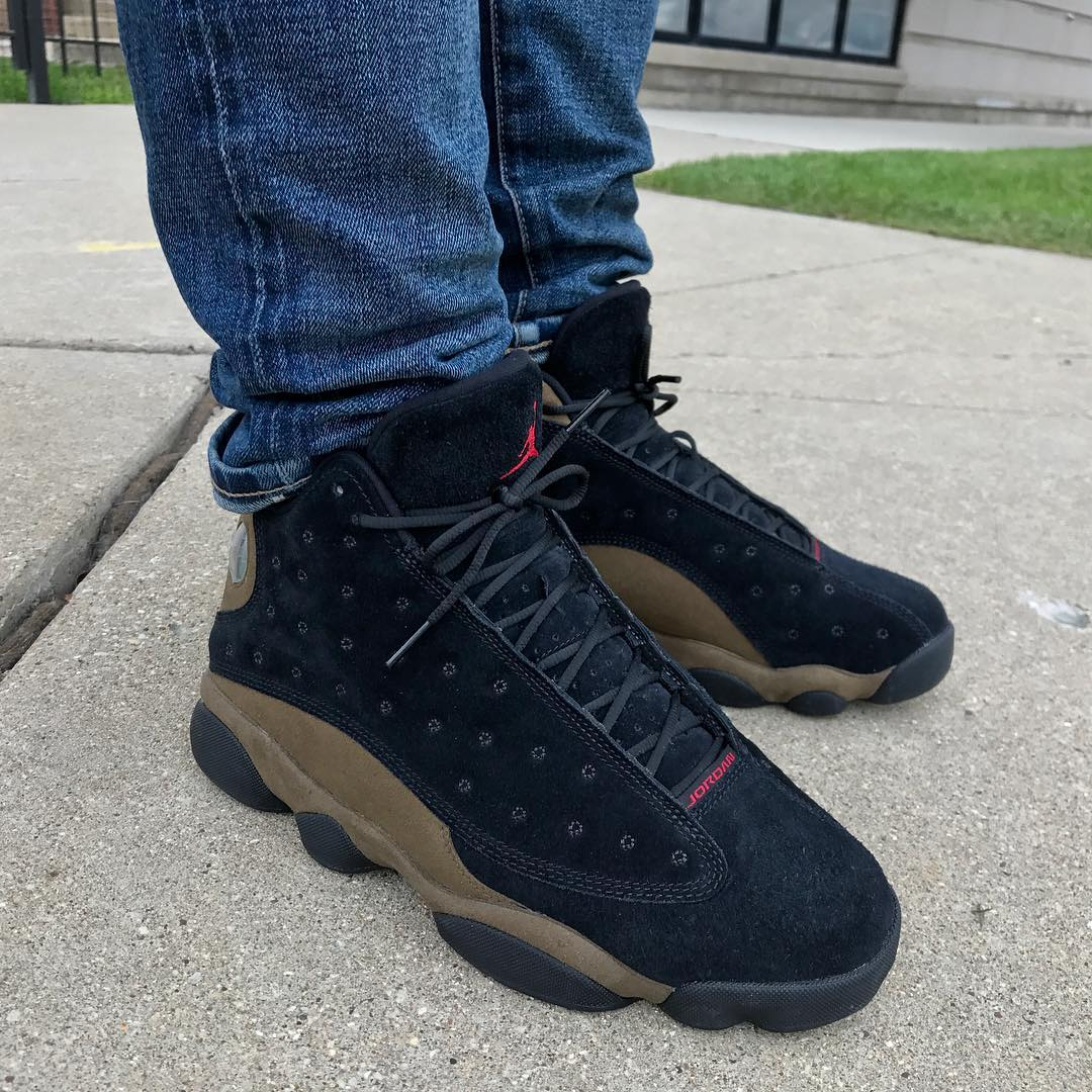 Air Jordan 13 Olive On-Foot 414571-006